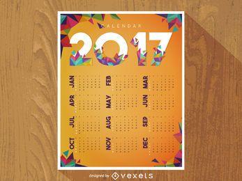 Calendário poligonal de 2017