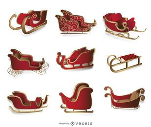 Isolated Christmas sleigh