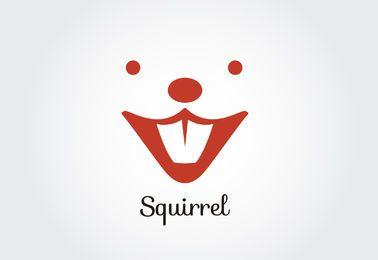 Esquilo, rosto, logotipo, modelo