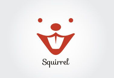 Squirrel face logo template