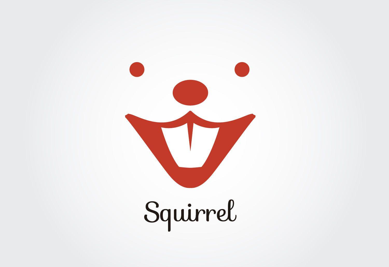 Plantilla de logotipo de cara de ardilla