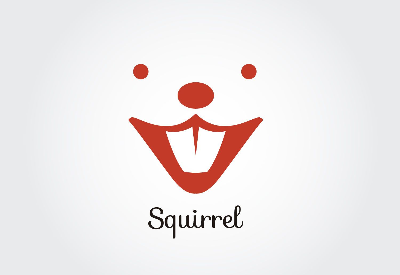 Squirrel face logo template