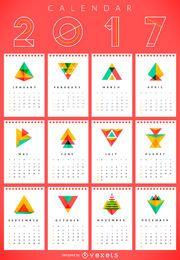 Calendário geométrico de 2017