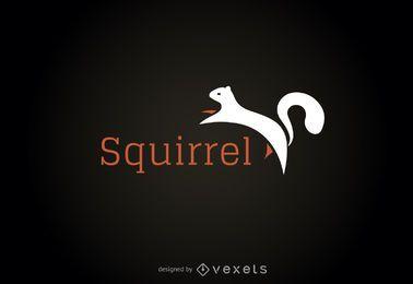 Modelo de logotipo de ilustração de esquilo