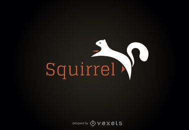 Squirrel illustration logo template