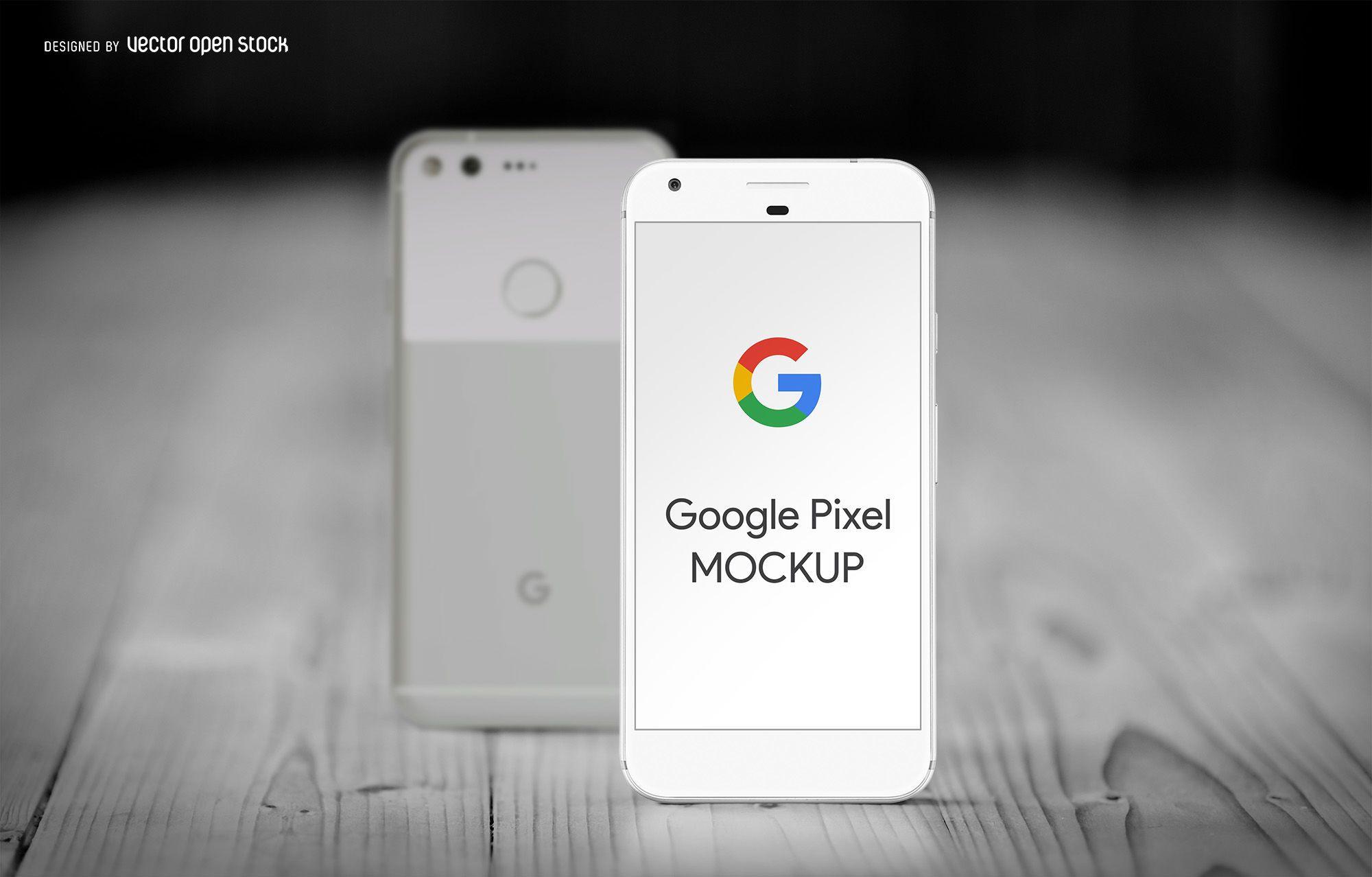 Google Pixel smartphone mockup - Vector download