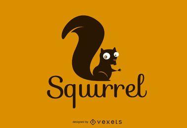 Plantilla de logotipo de ardilla