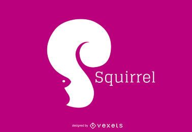Squirrel silhouette logo template