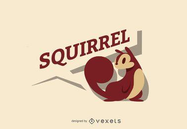 Modelo de etiqueta do logotipo de esquilo