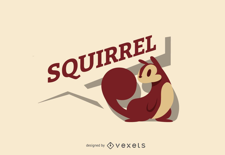 Squirrel logo label template