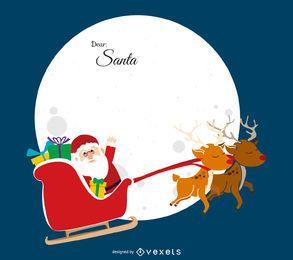 Flat Dear Santa ilustração