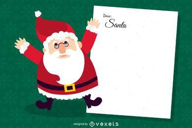 Caro ilustração da carta de Santa