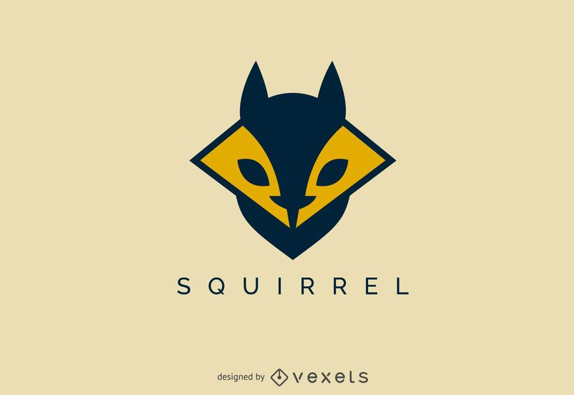 Geometric squirrel face logo template