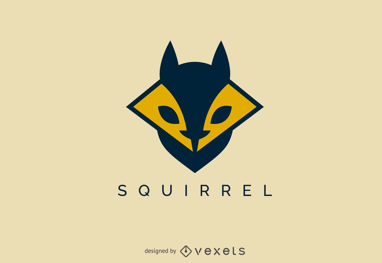 Geometric squirrel face logo template