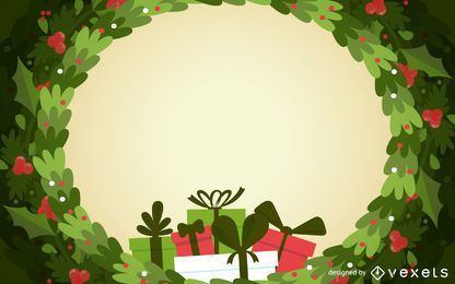 Christmas wreath backdrop frame