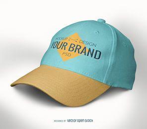gorra de béisbol plantilla maqueta PSD