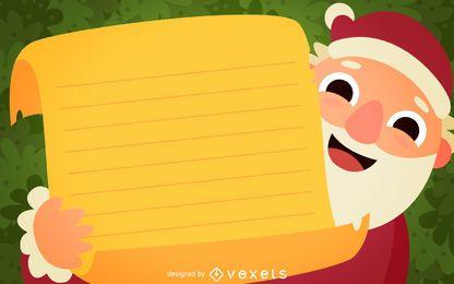 Santa Briefgestaltung