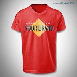T camisa PSD modelo de maquete