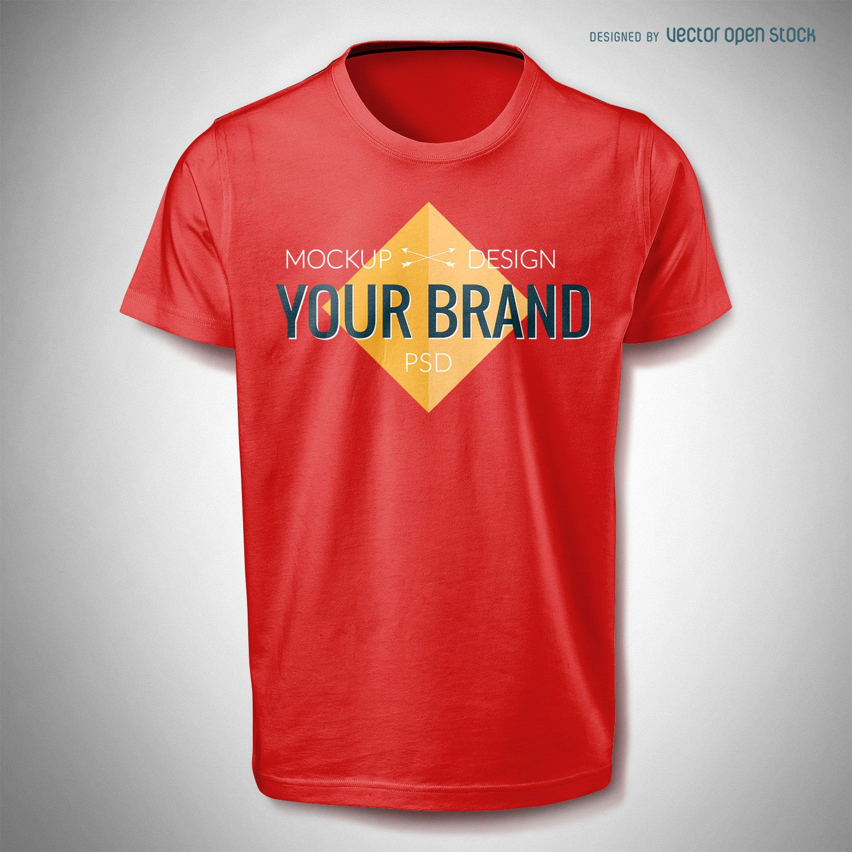 5d796d43 T shirt mockup template PSD - PSD download