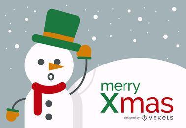 Feliz Navidad diseño del muñeco de nieve