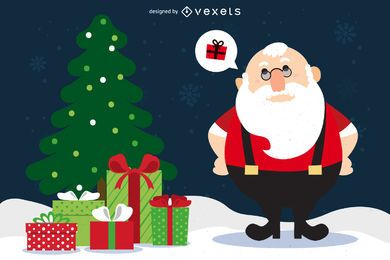 Papai Noel de Natal com presentes