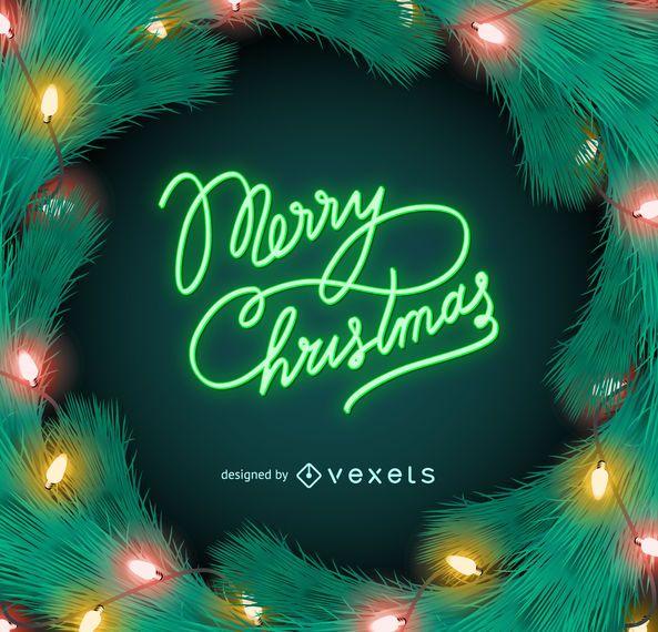 Feliz navidad, neón, luces, señal