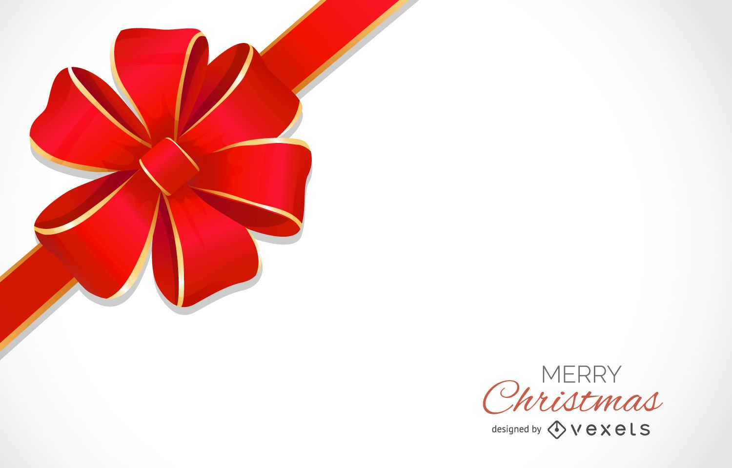 Christmas Bow Background Design Vector Download
