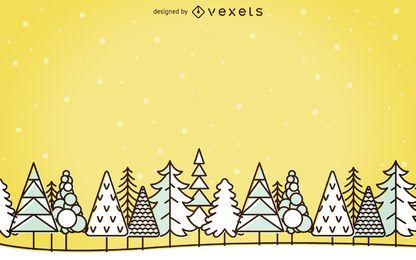 Stroke winter landscape background