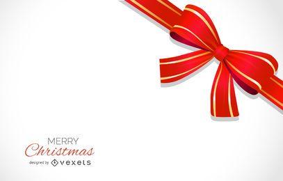 Diseño de fondo de arco de Navidad rojo con letras
