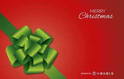 Colorful Christmas bow background