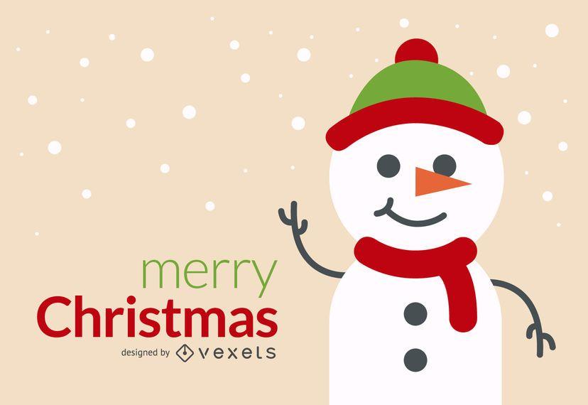 Christmas snowman card design