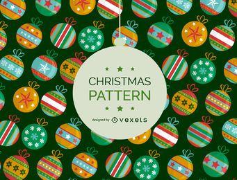 Fondo de Navidad bola patrón