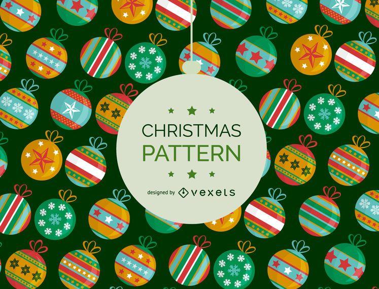 Christmas ball pattern background