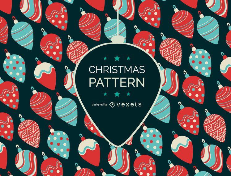 Adornos de navidad patrón de diseño