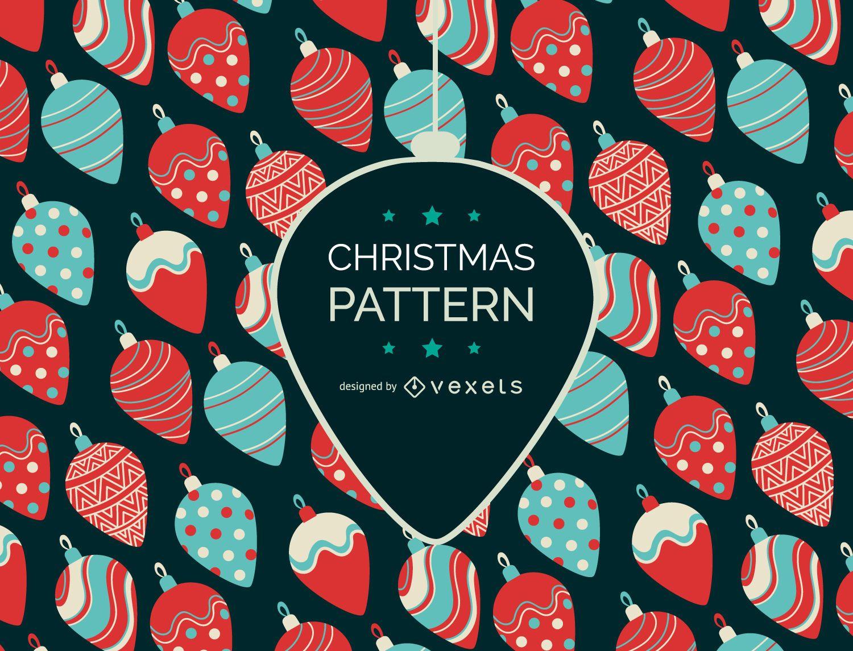Diseño de patrón de adornos navideños