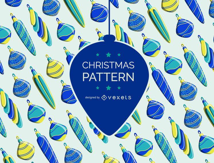 Padrão de enfeite de Natal vintage