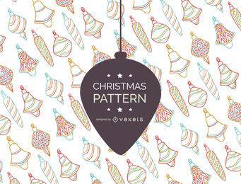 Modelo retro del ornamento de la Navidad