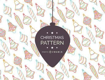 Retro Christmas ornament pattern