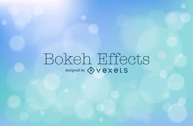 Design de fundo azul suave bokeh