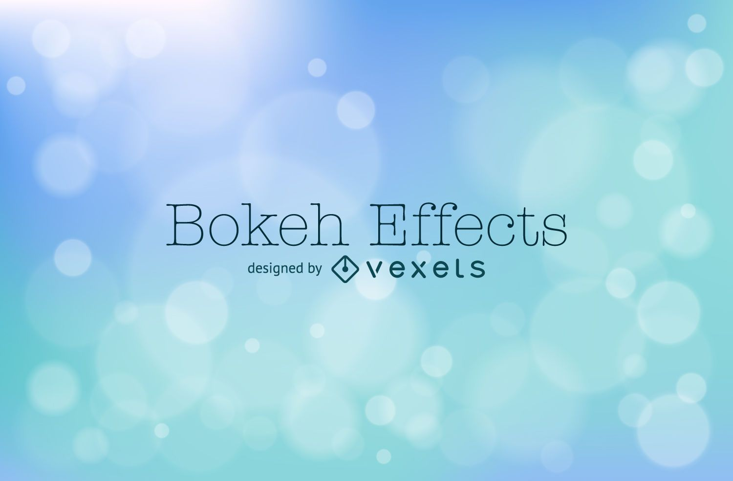 Soft Blue Bokeh Background Design Vector Download