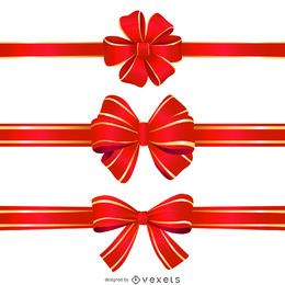 Isolated ribbon bow