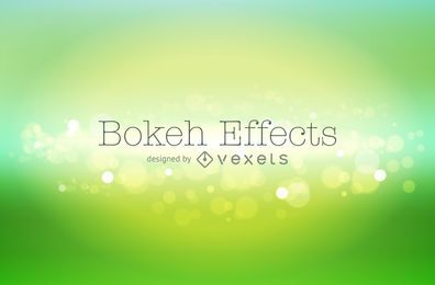 Green gradient bokeh background