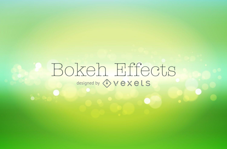 Green gradient bokeh background