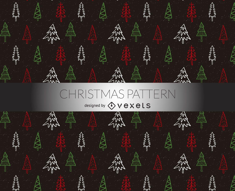 Weihnachtsbäume kritzelt Muster