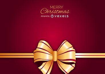Golden bow Christmas backdrop