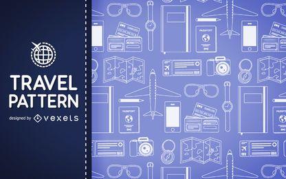 Reisen Sie Elemente Muster Hintergrund
