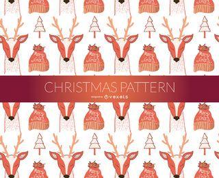 patrón de renos de Navidad