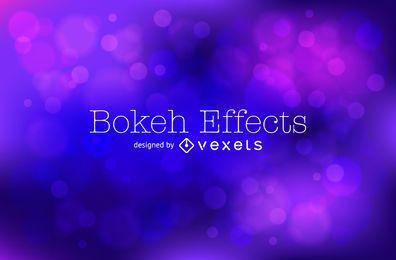 Azul de fondo bokeh púrpura