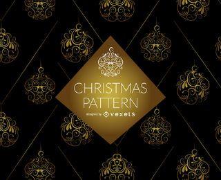 Golden swirl ornament pattern