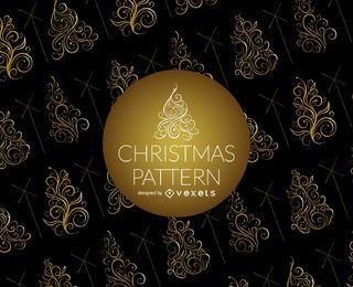 Swirl Christmas tree pattern